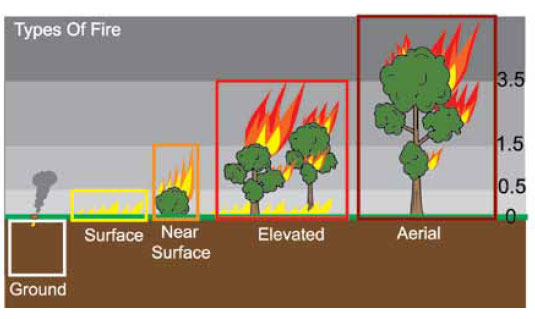Fig. B5.16 Showing the different types of fire