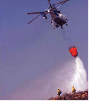 Photo B9.11 A drop from a bambi-bucket