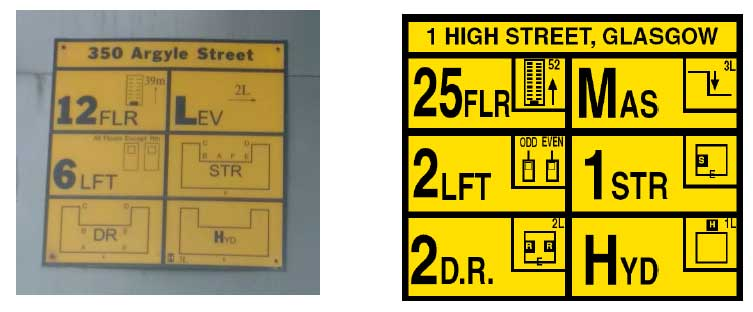 Figure 9: High rise external information plates