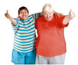 Two friends with learning disabilities