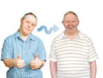 Two adults with learning disabilities