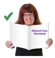 Women reading the National Care Standards