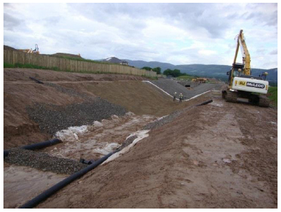 South West Inverness Flood Relief Channel under construction
