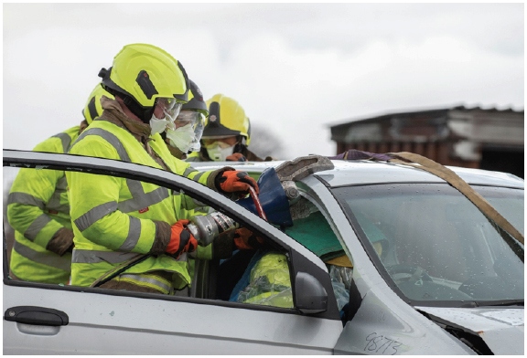 Figure 2: RTC tool-handling training - SFRS Corporate Communications