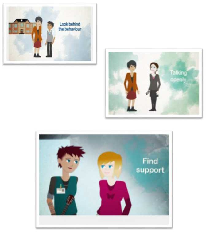 children and young people animations