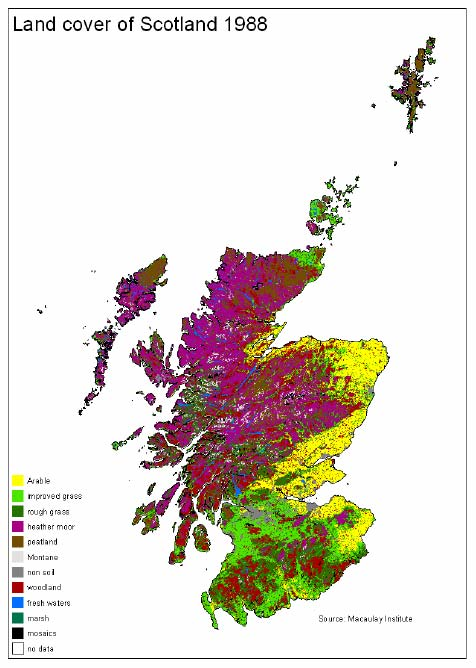 Figure 3.2 Land Cover Scotland 1988 (LCS88) (MLURI)