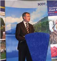 Richard Lochhead announcing the next steps to developing the Scotland's first National Food and Drink Policy at the Royal Highland Show in 2008.
