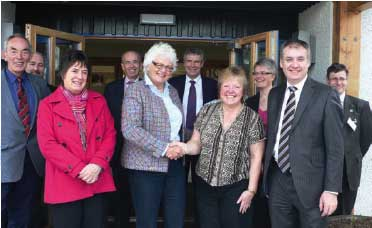European Agriculture Commissioner Mariann Fischer Boel and Richard Lochhead meet members of a local rural community group.