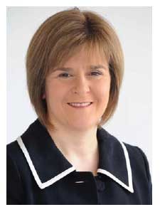 Nicola Sturgeon MSP Deputy First Minister and Cabinet Secretary for Health and Wellbeing photograph