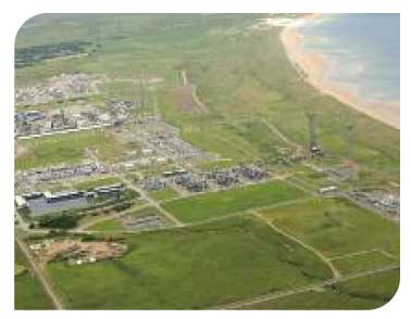 Aerial view of St Fergus terminal, Aberdeenshire