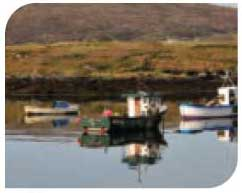 Fishing boats in the Uists