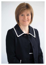Nicola Sturgeon Cabinet Secretary for Health, Wellbeing and Cities Strategy photograph