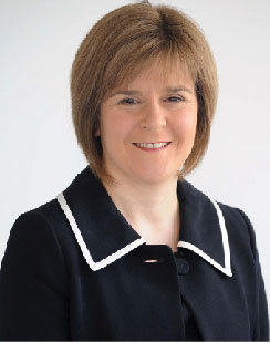 Photo of Nicola Sturgeon MSP Deputy First Minister