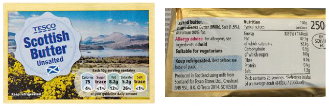 Tesco Scottish Salted Butter - produced in Scotland using Scottish milk
