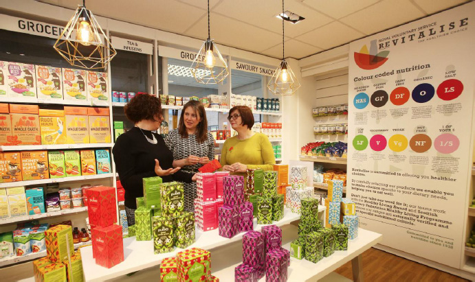 Minister for Public Health and Sport, Aileen Campbell MSP, visits an HRS store