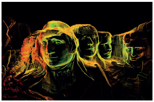 Scottish Ten 3D scan image of Mount Rushmore.