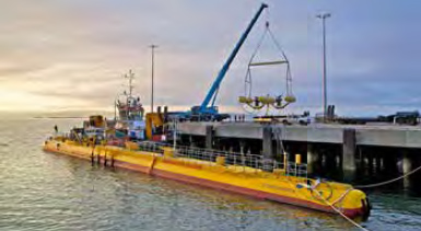 ScotRenewables SR2000 floating tidal turbine at Hatston Pier (Credit: Paul O'Brien)