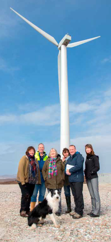 Coigach Community Wind Turbine (Credit: Highlands and Islands Enterprise)