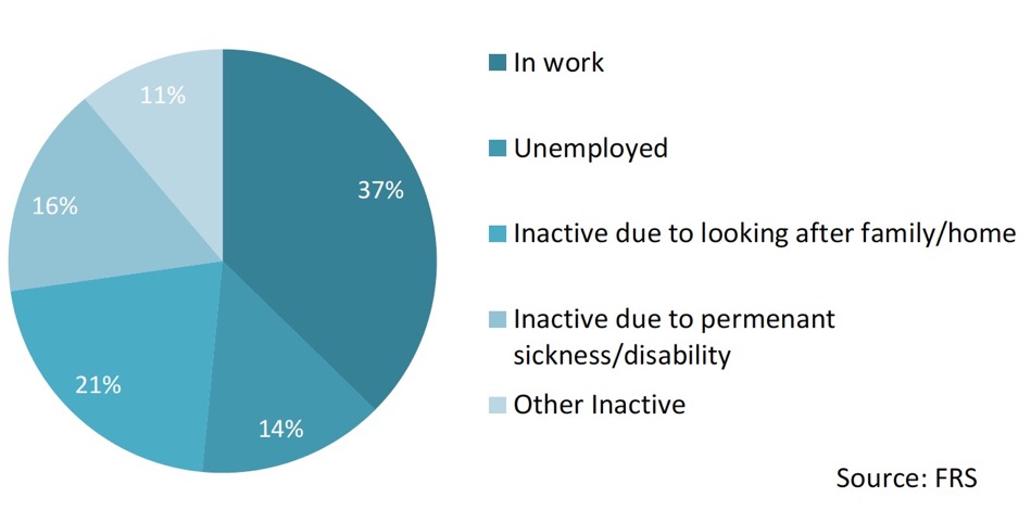 Chart 8: Employment status – Lone parents in poverty