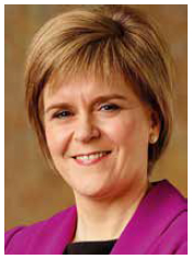 photograph of Nicola Sturgeon, First Minister
