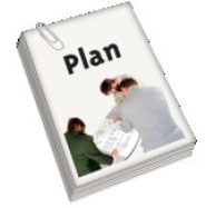 The cover of a plan