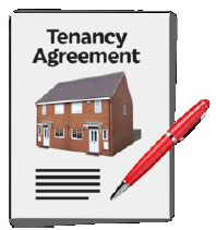 A tenancy agreement for a house.