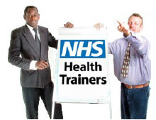 People being trained for a job at the NHS.