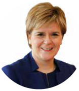 photograph of Nicola Sturgeon, First Minister of Scotland