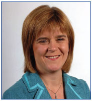 Photo of Nicola Sturgeon, MSP Deputy First Minister and Cabinet Secretary for Health and Wellbeing