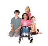 Group of disabled children and young people