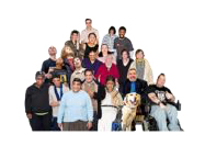 Many people with different diasabilities