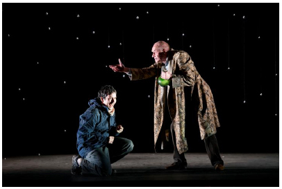 Nicholas Sharratt (Richard) and Steven Page (Old Man) in The Devil Inside. Scottish Opera and Music Theatre Wales 2016. Credit: Bill Cooper.