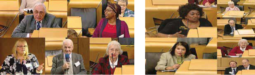 The 2016 Assembly was streamed live from the debating chamber of the parliament and was viewed widely across Scotland. Courtesy of SOPA 2016