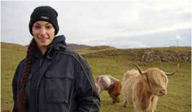 Claire Simonetta – a SRUC 2017 Final Year Agriculture Student, an Inaugural British Education Awards (BEA) 2017 Regional Winner for Scotland, and Farmers Weekly 2016 Agricultural Student of the Year]