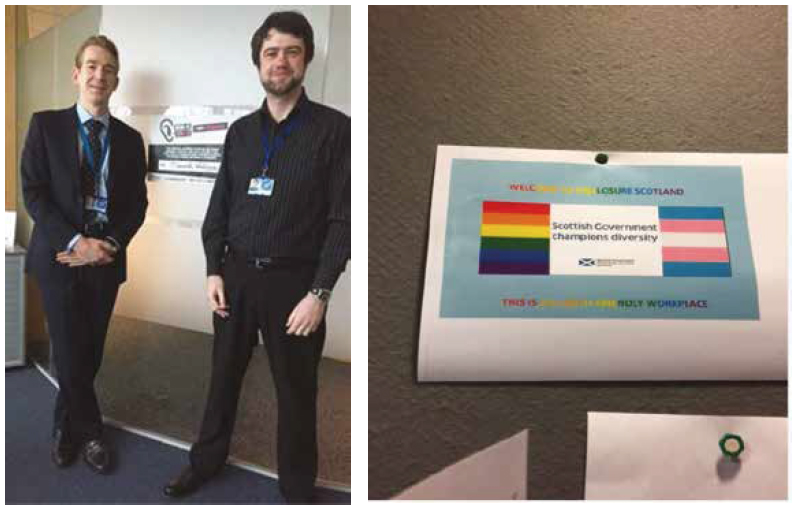 Our Ally Kris McKeown created an Allies page on our Intranet, including an LGBTI Events page, which led to promotion of the International Day against Homophobia and Transphobia on the main page of DS Intranet.