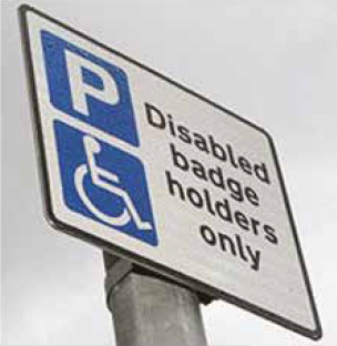 The Blue Badge sign