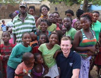 Ricky Grierson, Scottish Water employee, on recent WaterAid fundraisers visit.