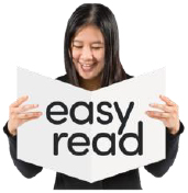 Person reading an easy read version of the document
