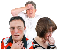 People showing symptoms of coronavirus – a cough or a high temperature